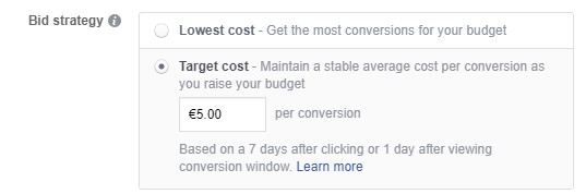 Target cost