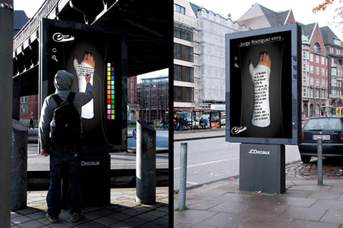 Guerrilla marketing interactive billboard example